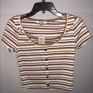 Gaze short sleeved striped shirt